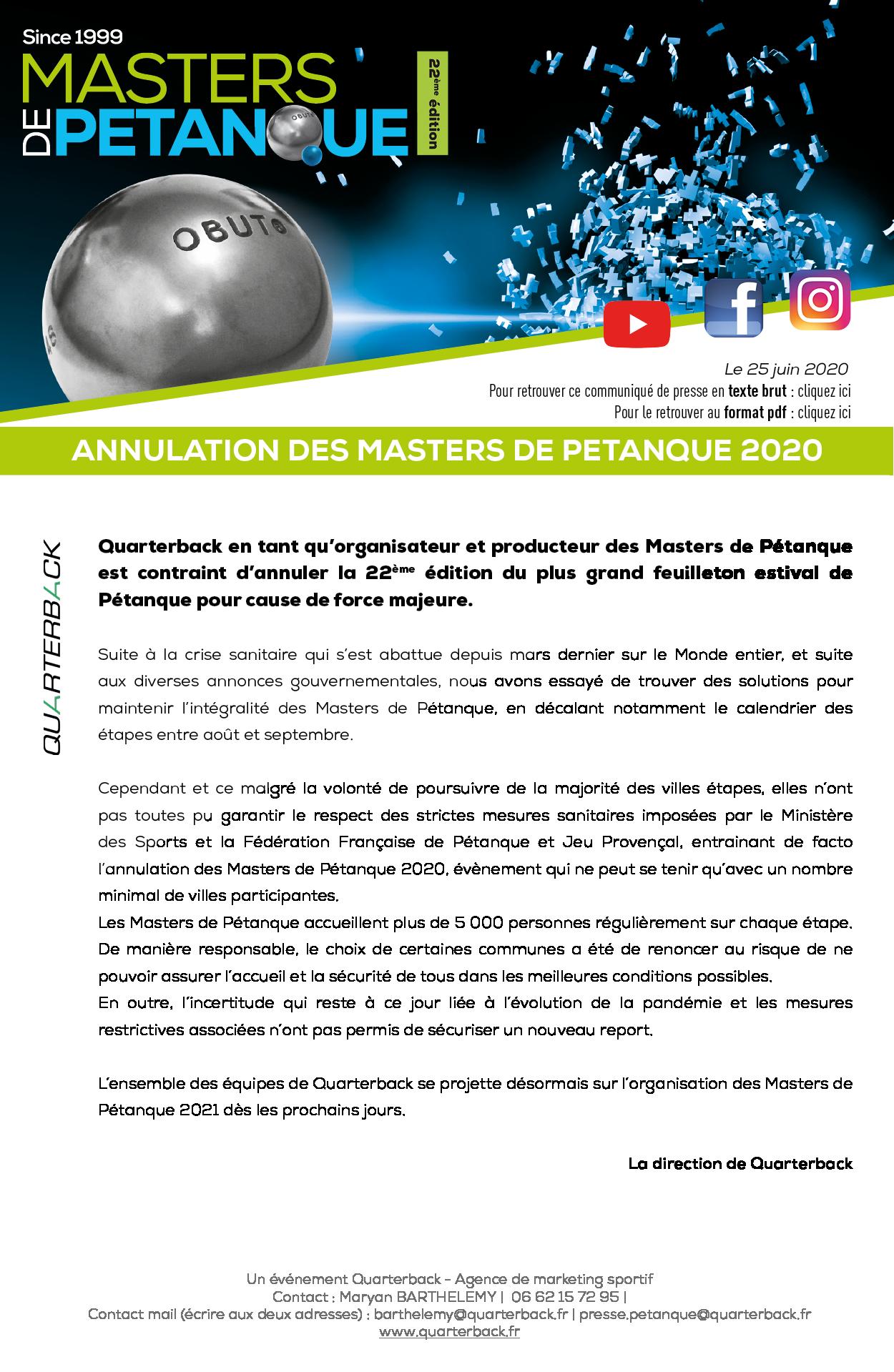 Masters de Pétanque