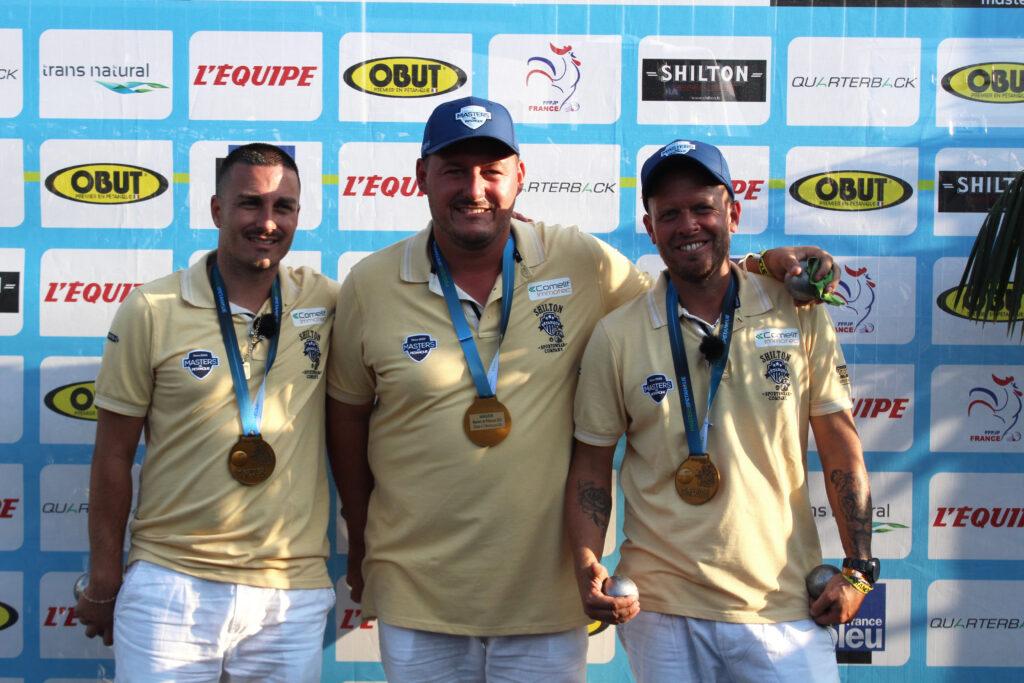 Vainqueurs de l'étape de Montluçon : Montoro, Sarrio et Malbec.