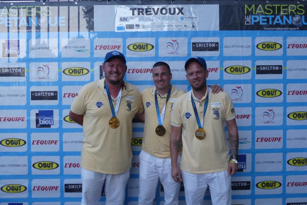 Équipe Montoro : Kevin Malbec, Christophe Sarrio et Ludovic Montoro