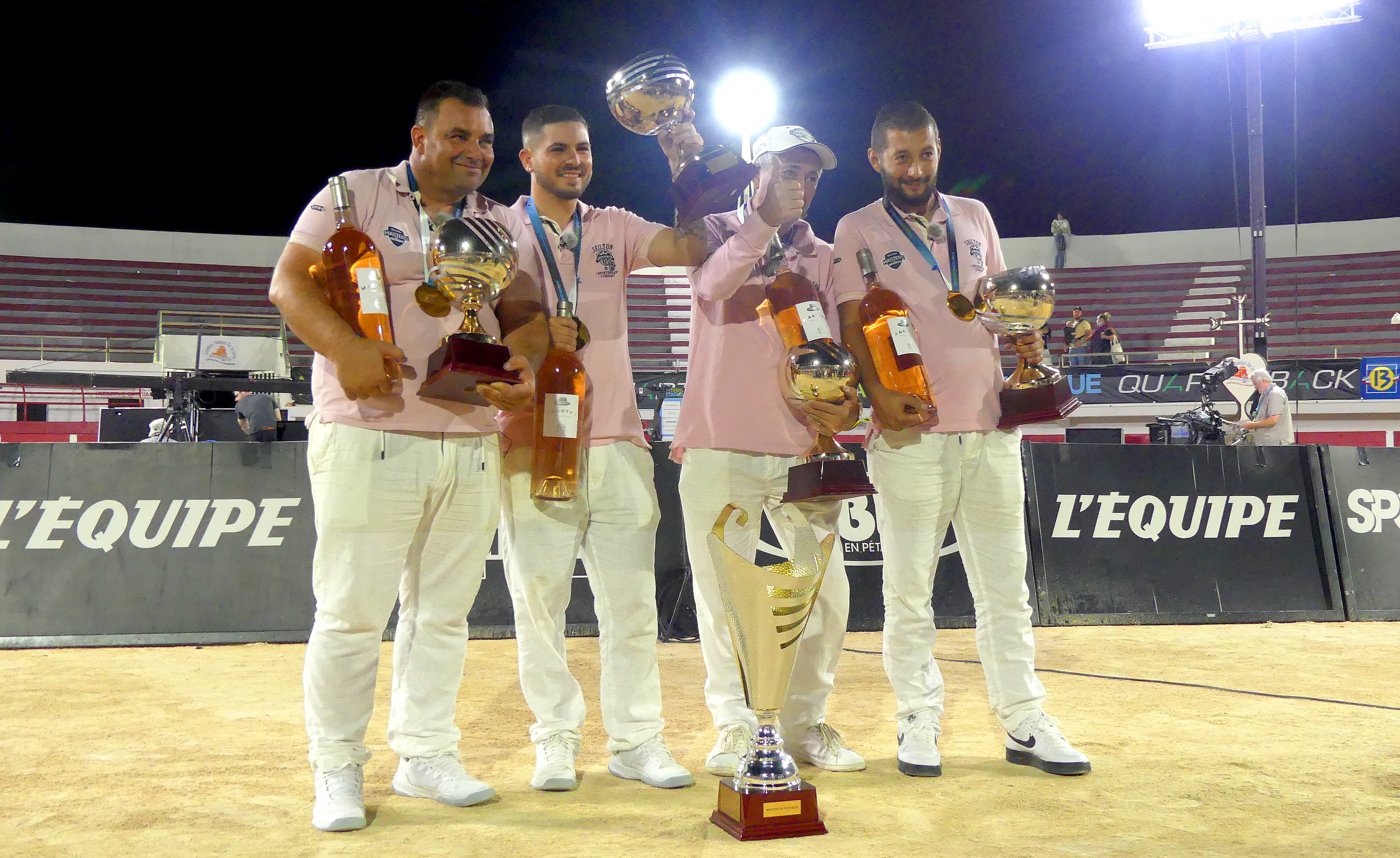 Christian Fazzino, Mickaël Bonetto, David Riviera, Jeremy Fernandez : vainqueurs de l'édition 2021 des Masters de Pétanque.