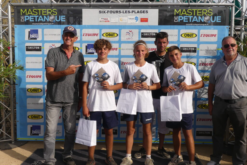 Vainqueurs des Masters Jeunes de Six-Fours-Les-Plages : Lou Labarthe, Noah Breton et Lorenzo Debard